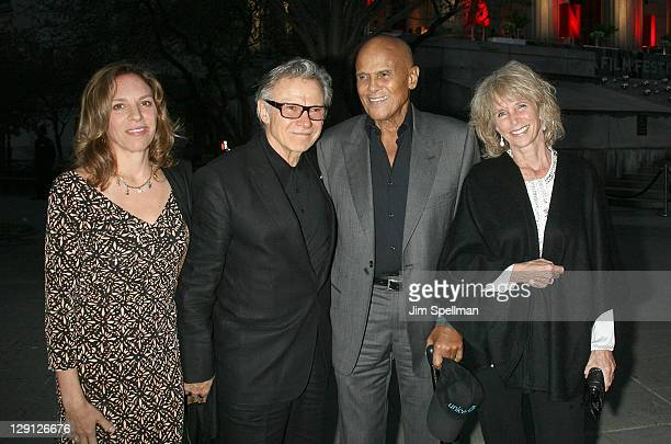 Daphna Kastner Harvey Keitel Harry Belafonte and Pamela Belafonte attend the Vanity Fair party during the 10th annual Tribeca Film Festival at State...