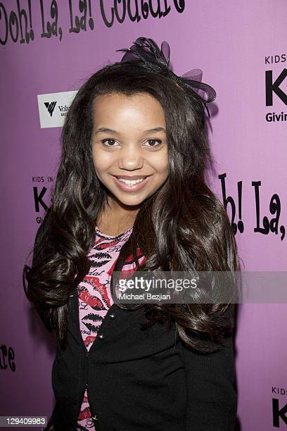 Daphne Blunt attends the Kids In Distressed Situations Benefit Hosted By Bella Thorne And OohLaLa Couture on February 12, 2011 in Los Angeles,...