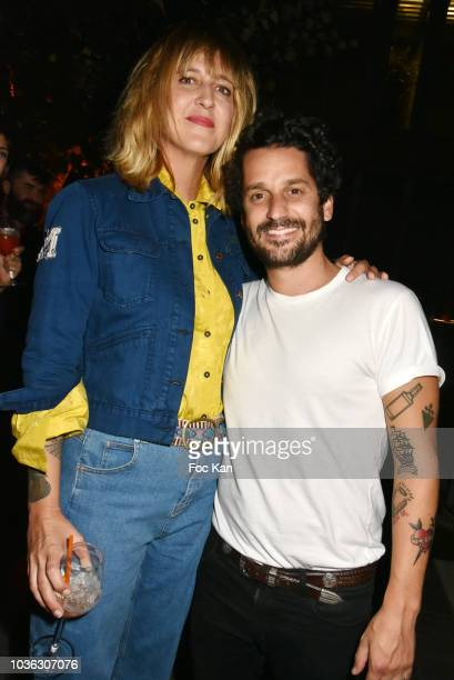 Daphne Burki and Gunther Love attend the Spritz Plazza Party at the 118 Warner on September 19 2018 in Paris France