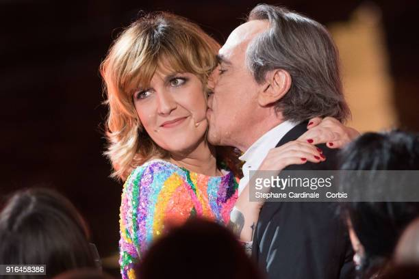 Daphne Burki and Philippe Lavil attends the 33rd 'Les Victoires De La Musique' 2018 at La Seine Musicale on February 9 2018 in BoulogneBillancourt...