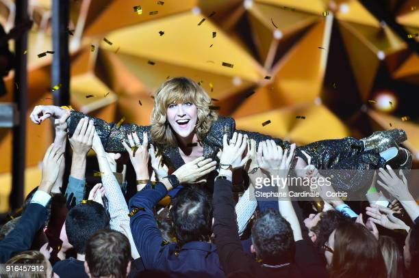 Daphne Burki attends the 33rd 'Les Victoires De La Musique' 2018 at La Seine Musicale on February 9 2018 in BoulogneBillancourt France