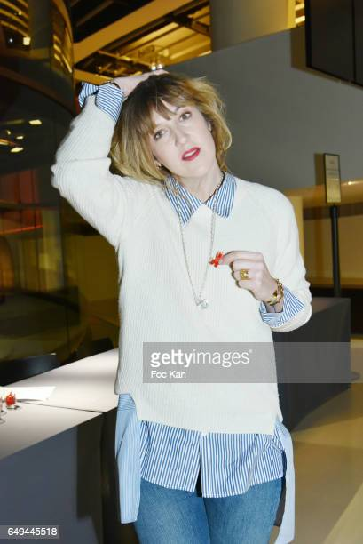 Daphne Burki attends the Sidaction 2017 Launch Party Photocall at Musee Branly on March 07 2017 in Paris France