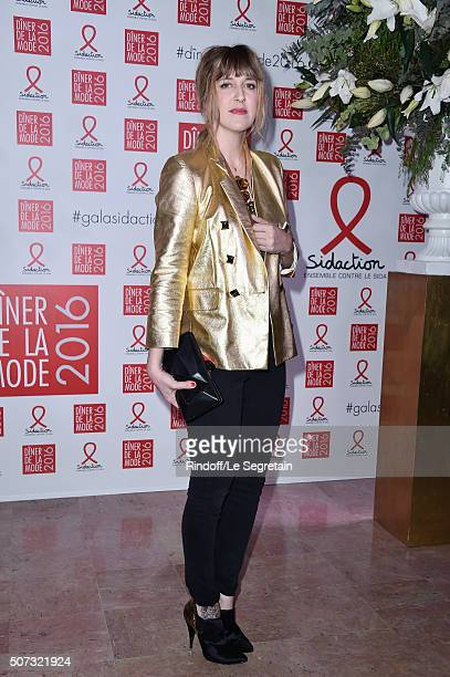 Daphne Burki attends the Sidaction Gala Dinner 2016 as part of Paris Fashion Week on January 28 2016 in Paris France