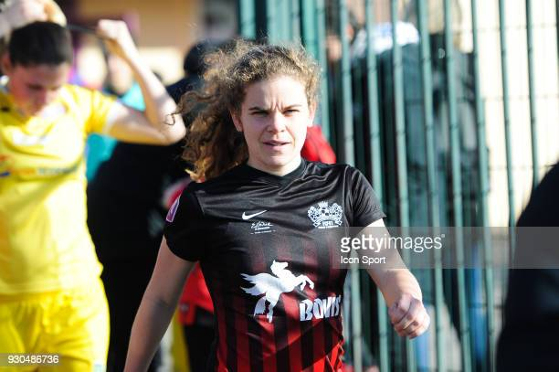 Daphne Corboz of FC FLeury before the French Women Division 1 match between Fleury and Albi on March 11 2018 in Fleury France