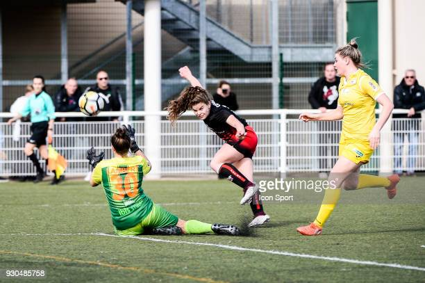 Daphne Corboz of FC FLeury during the French Women Division 1 match between Fleury and Albi on March 11 2018 in Fleury France