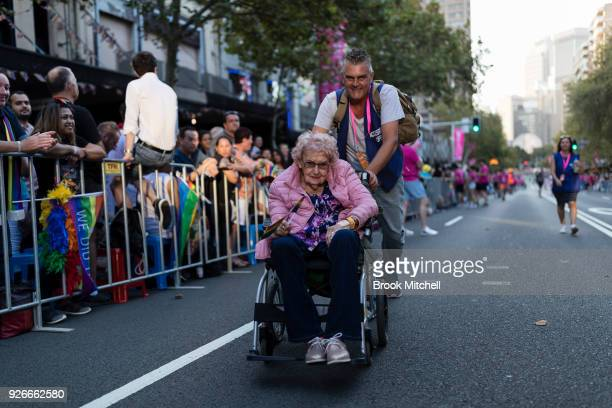 Daphne Dunne who is 98 started attending the Sydney Mardi Gras only last year The 2018 Sydney Gay Lesbian Mardi Gras Parade on March 3 2018 in Sydney...
