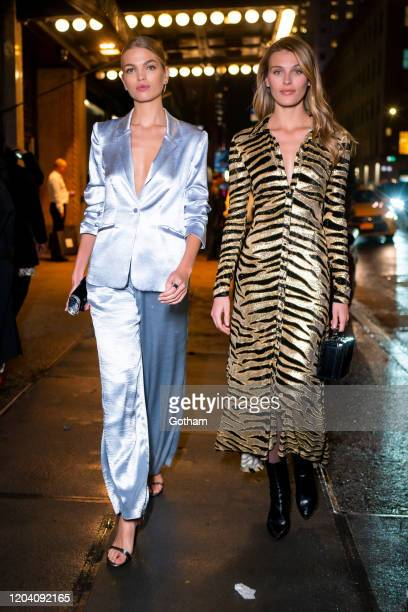 Daphne Groeneveld and Madison Headrick are seen in Midtown on February 04 2020 in New York City