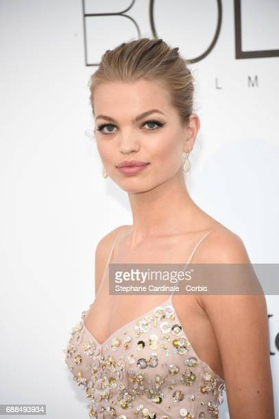 Daphne Groeneveld arrives at the amfAR Gala Cannes 2017 at Hotel du CapEdenRoc on May 25 2017 in Cap d'Antibes France