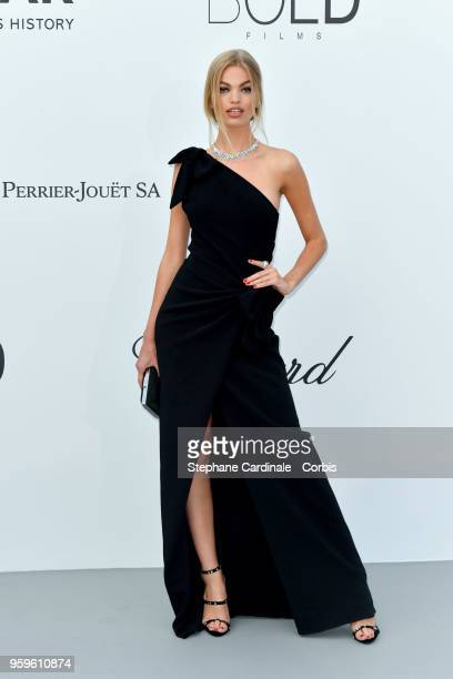 Daphne Groeneveld arrives at the amfAR Gala Cannes 2018 at Hotel du Cap-Eden-Roc on May 17, 2018 in Cap d'Antibes, France.