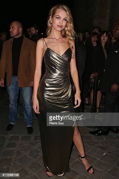 Daphne Groeneveld arrives at the Gold Obsession Party - L'Oreal Paris as part of the Paris Fashion Week Womenswear Spring/Summer 2017 on October 2,...