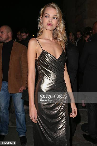 Daphne Groeneveld arrives at the Gold Obsession Party L'Oreal Paris as part of the Paris Fashion Week Womenswear Spring/Summer 2017 on October 2 2016...