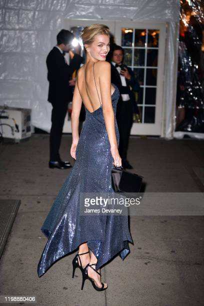 Daphne Groeneveld arrives to the amfAR Gala New York 2020 at Cipriani Wall Street on February 5 2020 in New York City