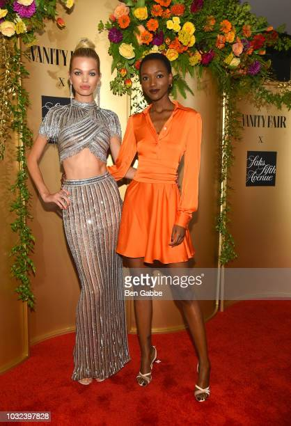 Daphne Groeneveld attends as Vanity Fair and Saks Fifth Avenue celebrate Vanity Fair's Best-Dressed 2018 at Manhatta on September 12, 2018 in New...