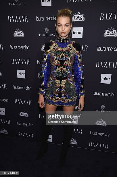Daphne Groeneveld attends Harper's Bazaar's celebration of 'ICONS By Carine Roitfeld' presented by Infor Laura Mercier and Stella Artois at The Plaza...