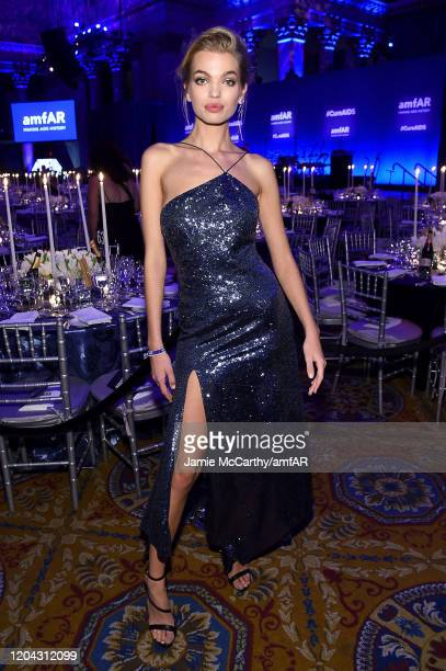 Daphne Groeneveld attends the 2020 amfAR New York Gala at Cipriani Wall Street on February 05 2020 in New York City