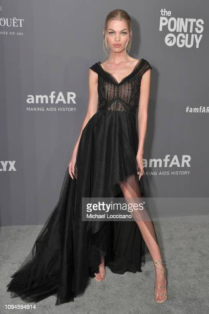 Daphne Groeneveld attends the amfAR New York Gala 2019 at Cipriani Wall Street on February 6 2019 in New York City