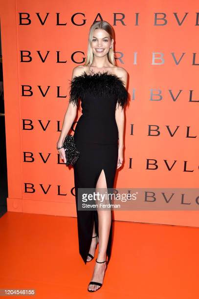 Daphne Groeneveld attends the Bvlgari B.zero1 Rock collection event at Duggal Greenhouse on February 06, 2020 in Brooklyn, New York.
