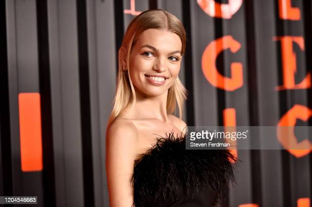 Daphne Groeneveld attends the Bvlgari Bzero1 Rock collection event at Duggal Greenhouse on February 06 2020 in Brooklyn New York