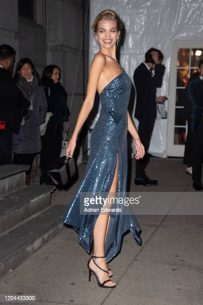 Daphne Groeneveld outside the amFAR Gala held at Cipriani Wall St on February 5 2020 in New York City