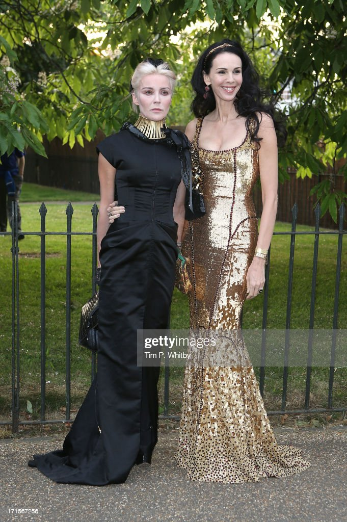 Daphne Guiness and L'Wren Scott attend the annual Serpentine Gallery summer party at The Serpentine Gallery on June 26, 2013 in London, England.