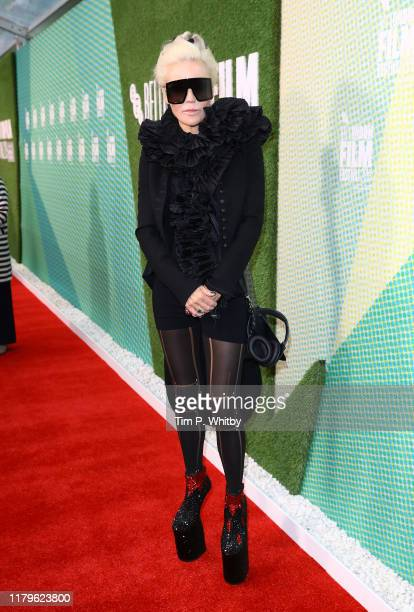 Daphne Guiness attends The Two Popes International Premiere during the 63rd BFI London Film Festival at the Embankment Gardens Cinema on October 07...