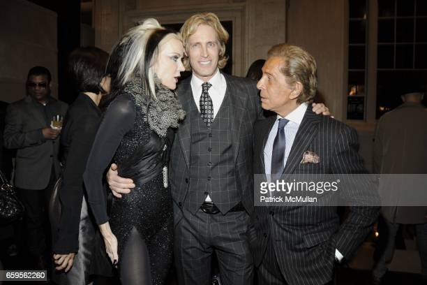 Daphne Guiness Bruce Hoeksema and Valentino Garavani attend Gwyneth Paltrow and VBH's Bruce Hoeksema Host Cocktail Party for Valentino The Last...