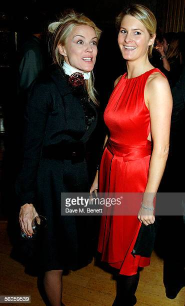 Daphne Guinness and a guest attend the private view and champagne reception for 'Diana Princess Of Wales By Mario Testino' at Kensington Palace on...