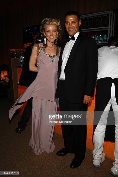 Daphne Guinness and Ari Emanuel attend Vanity Fair Oscar Party at Morton's Restaurant on March 5 2006
