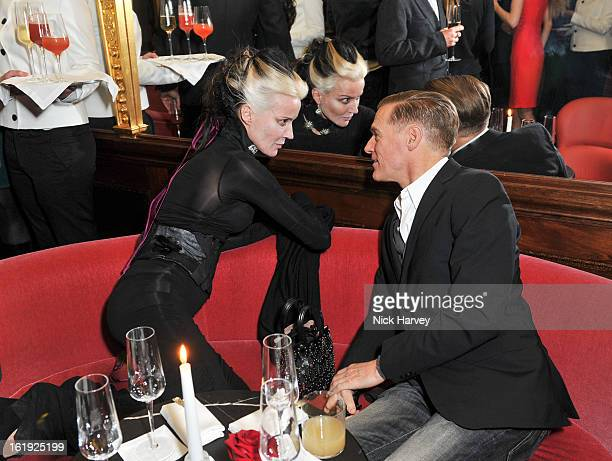 Daphne Guinness and Brian Adams attend the L'Wren Scott cocktail party during London Fashion Week Fall/Winter 2013/14 at on February 17 2013 in...