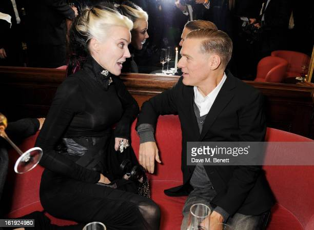 Daphne Guinness and Bryan Adams attend a private dinner hosted by L'Wren Scott Mick Jagger celebrating her 2013 fall/winter collection at the Cafe...