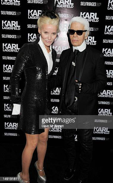 Daphne Guinness and Karl Lagerfeld attend a private cocktail party celebrating the launch of Karl Lagerfeld's collections 'KARL ' and 'KARL LAGERFELD...
