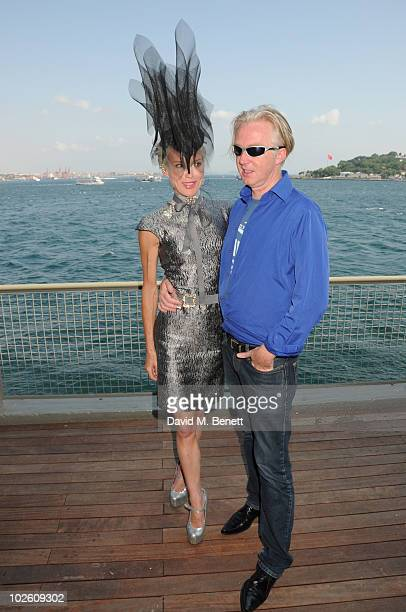 Daphne Guinness and Philip Treacy attend the Istancool arts festival by Liberatum Saturday lectures at the Istanbul Modern Art Museum as part of the...