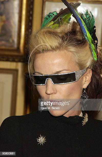 Daphne Guinness attends a party celebrating the launch of US Vogue journalist Plum Sykes' debut novel 'Bergdorf Blondes' at Annabel's May 4 2004 in...