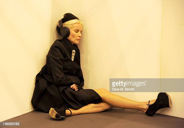 Daphne Guinness attends a preshow drinks reception at the Graduate Fashion Week 2012 Gala Show at Earls Court 2 on June 13 2012 in London England