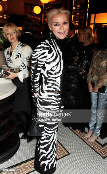 Daphne Guinness attends a private dinner hosted by British Vogue celebrating London Fashion Week SS14 at Balthazar on September 15 2013 in London...