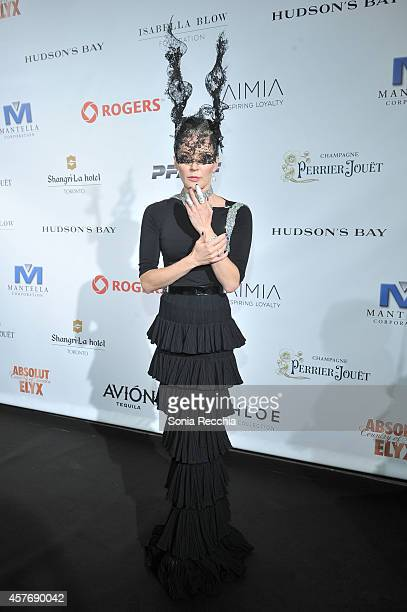 Daphne Guinness attends Hudson's Bay And The Isabella Blow Foundation Present Fashion Blows at The Hudson's Bay on October 22 2014 in Toronto Canada