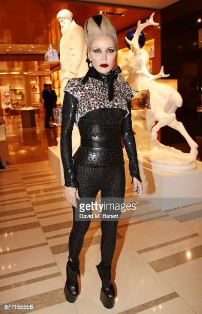 Daphne Guinness attends Louis Vuittons Celebration of GingerNutz in Vogue's December Issue on November 21 2017 in London England