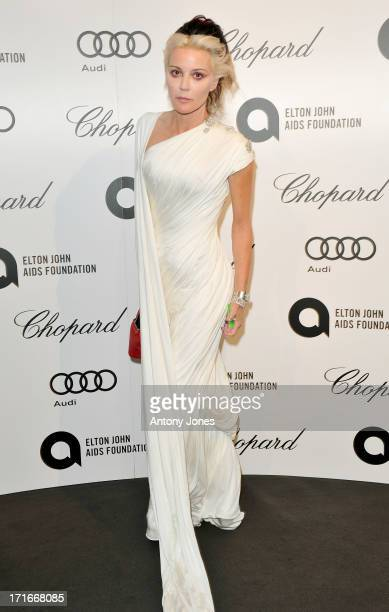 Daphne Guinness attends the 15th Annual White Tie and Tiara Ball to Benefit Elton John AIDS Foundation in Association with Chopard at Woodside on...