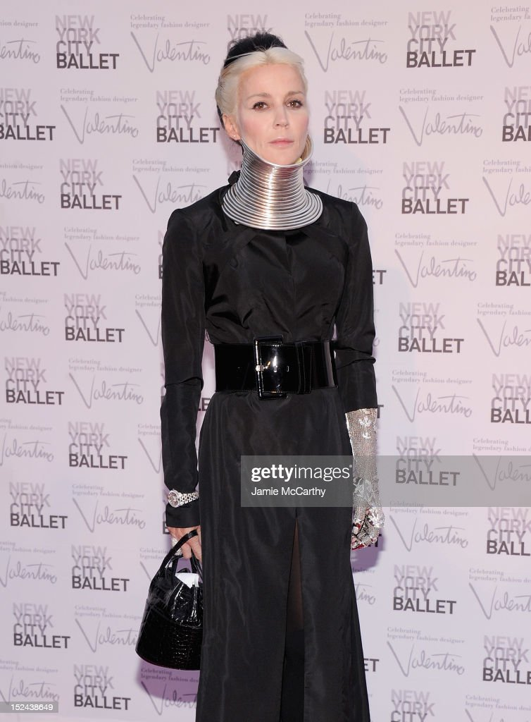 Daphne Guinness attends the 2012 New York City Ballet Fall Gala at the David H. Koch Theater, Lincoln Center on September 20, 2012 in New York City.