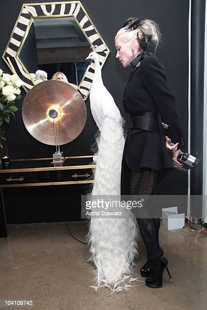 Daphne Guinness attends the Another Magazine dinner at Milk Studios on September 14, 2010 in New York City.