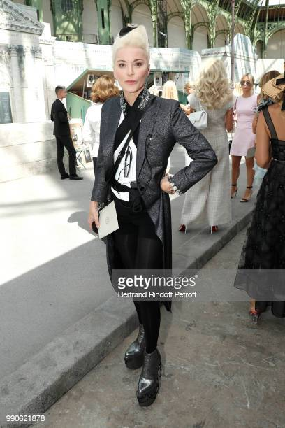 Daphne Guinness attends the Chanel Haute Couture Fall Winter 2018/2019 show as part of Paris Fashion Week on July 3 2018 in Paris France