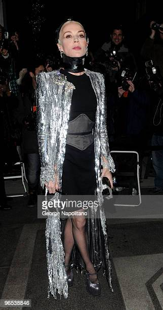 Daphne Guinness attends the Chanel Rouge Coco Dinner at The Mark Hotel on February 9 2010 in New York City