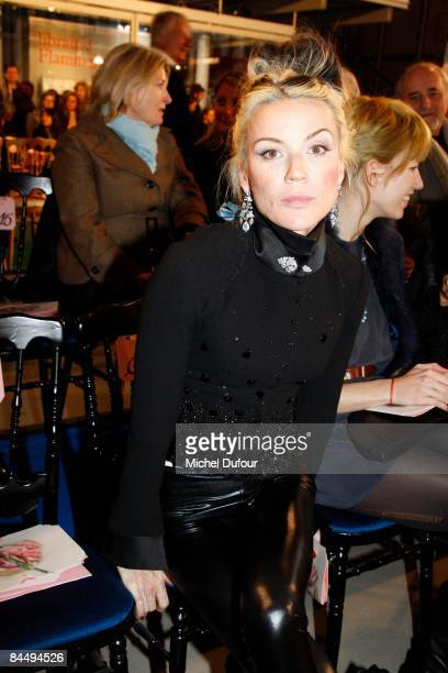 Daphne Guinness attends the Christian Lacroix fashion show during Paris Fashion Week Haute Couture Spring/Summer 2009 on January 27 2009 in Paris...