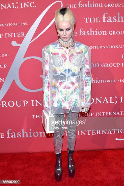 Daphne Guinness attends the Fashion Group International's 34th Annual Night of Stars Gala at Cipriani Wall Street on October 26 2017 in New York City