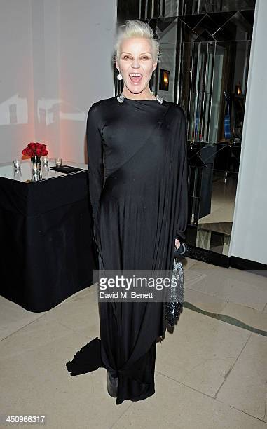 Daphne Guinness attends the Isabella Blow Fashion Galore charity dinner hosted by the Isabella Blow Foundation at Claridges Hotel on November 19 2013...