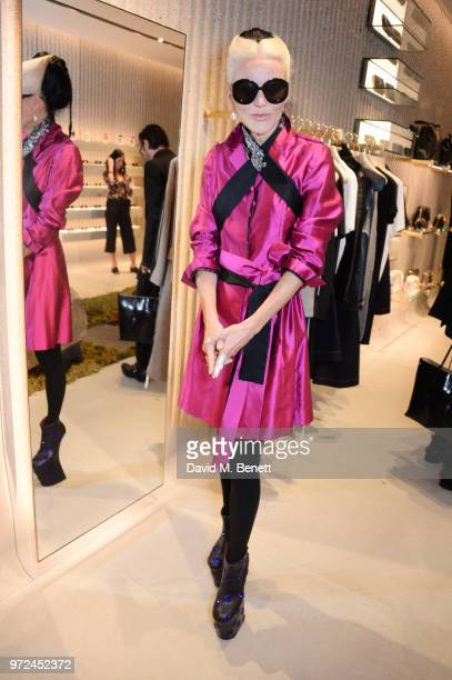 Daphne Guinness attends the launch of the Stella McCartney Global flagship store on Old Bond Street on June 12 2018 in London England