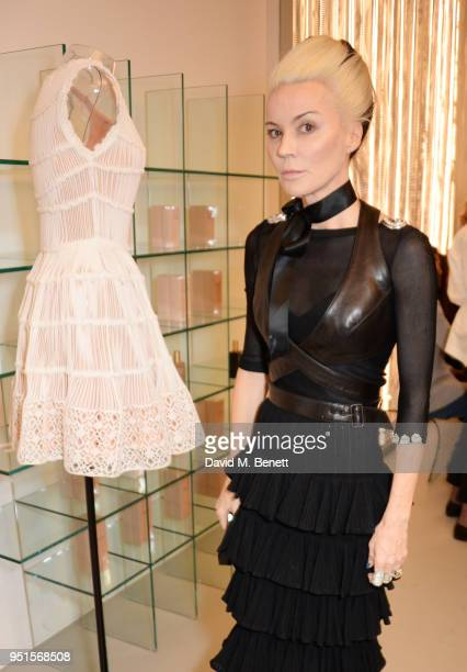 Daphne Guinness attends the opening of Maison Alaia on New Bond Street on April 26 2018 in London England