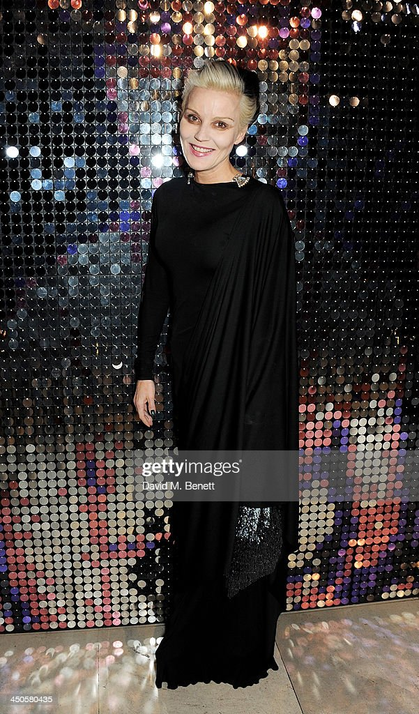 Daphne Guinness attends the private view of Isabella Blow: Fashion Galore!, a new Somerset House exhibition, at Somerset House on November 19, 2013 in London, England.