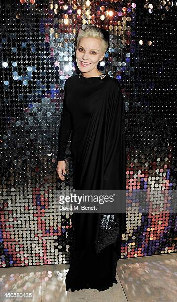 Daphne Guinness attends the private view of Isabella Blow Fashion Galore a new Somerset House exhibition at Somerset House on November 19 2013 in...