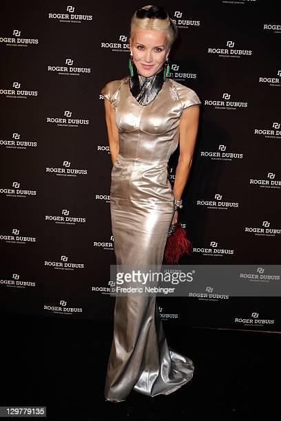 Daphne Guinness attends the Roger Dubuis Soiree Monegasque at Hotel de Paris on October 20 2011 in Monaco Monaco